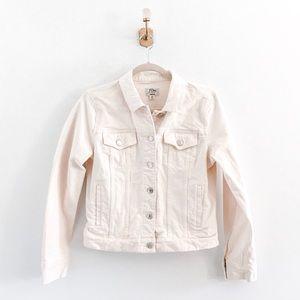 J.Crew White Denim Jacket in Ecru Wash